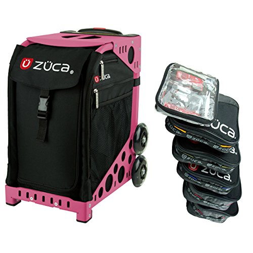 Zuca Obsidian Sport Insert Bag & Pink Frame , and Packing Pouch Set