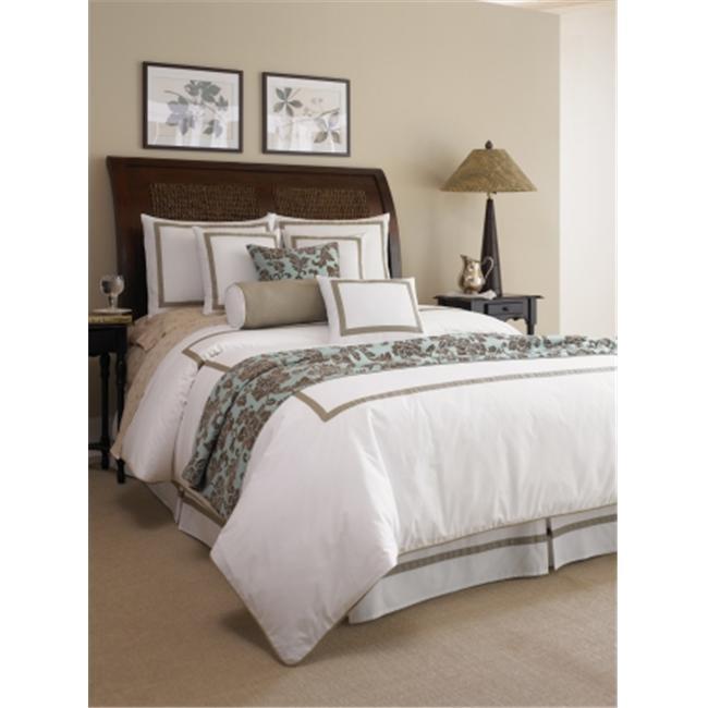 American Century Home ELI14 Elise Oblong Pillow 14 X 18 - White-Tan