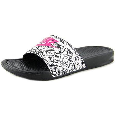 Nike - Nike 618919-061  Benassi JDI Print Womens Black White Pink Sandals  (8 B(M) US) - Walmart.com a066740b6a