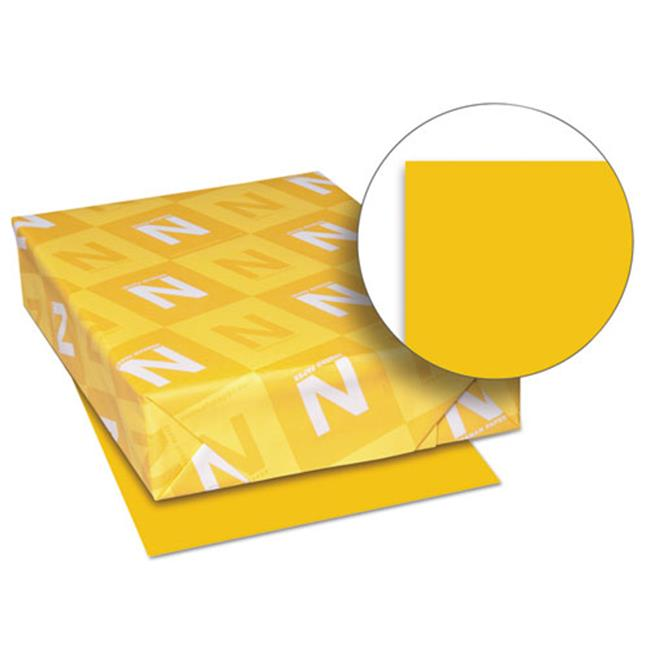 Wausau Papers 26711 8.5 x 11 Exact Brights Paper, Bright Gold