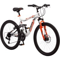 "24"" Mongoose Trail Blazer Boys Mountain Bike, White"
