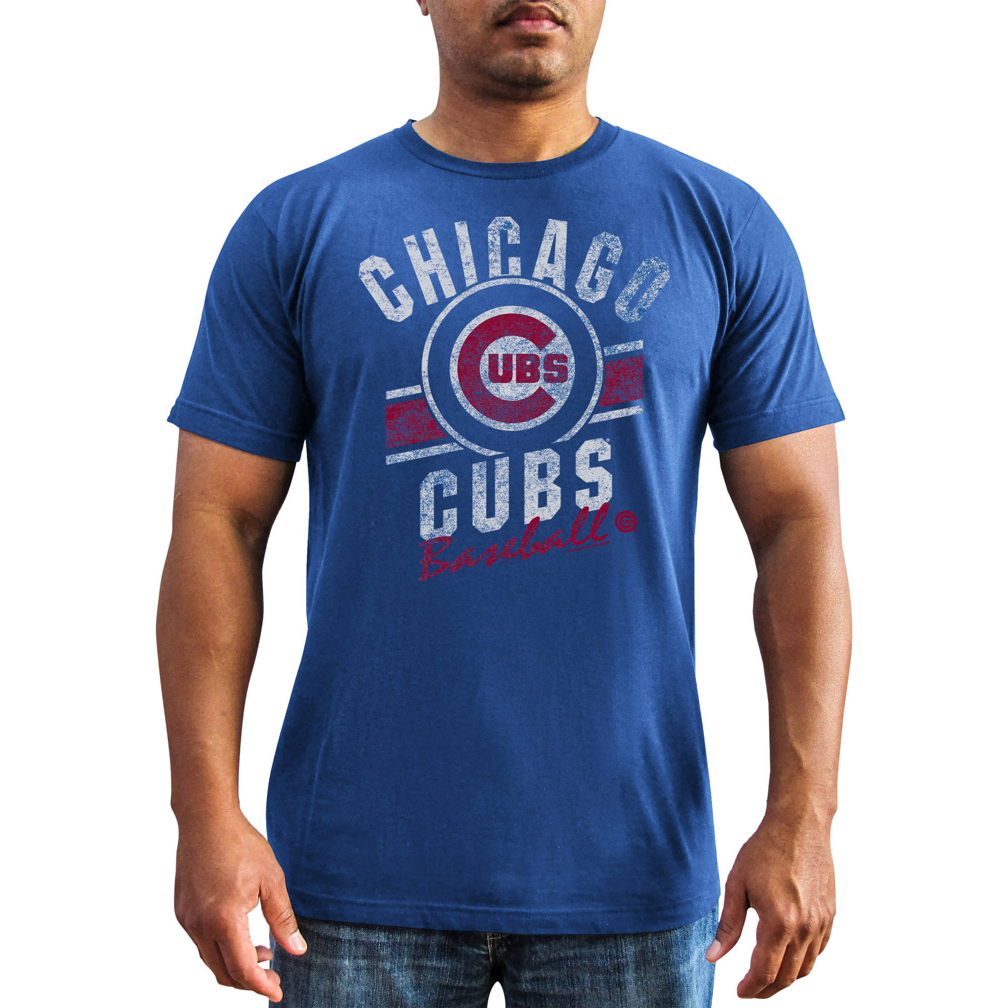 MLB - Big Mens Chicago Cubs Short Sleeve Team Tee