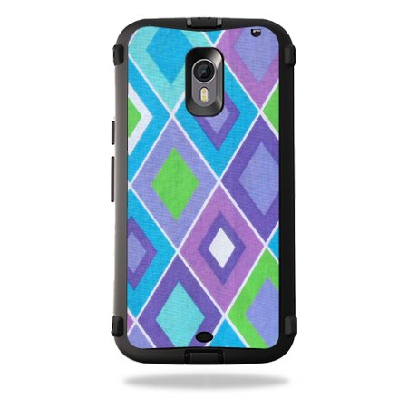 MightySkins Protective Vinyl Skin Decal for OtterBox Defender Moto X Pure Edition wrap cover sticker skins Pastel Argyle