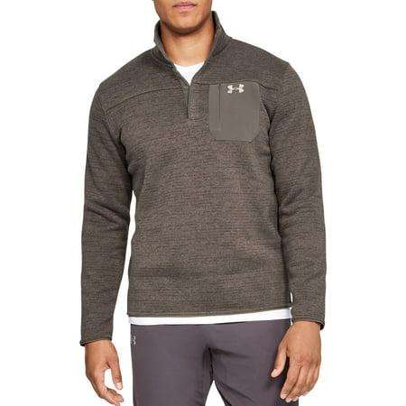 Under Armour Men's Sweaterfleece Henley Long Sleeve Shirt, Maverick Brown,