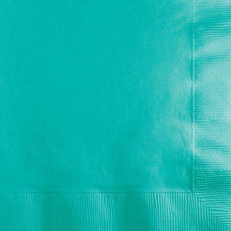 Teal Napkins (Creative Converting Teal Lagoon Beverage Napkin 2Ply, 50)