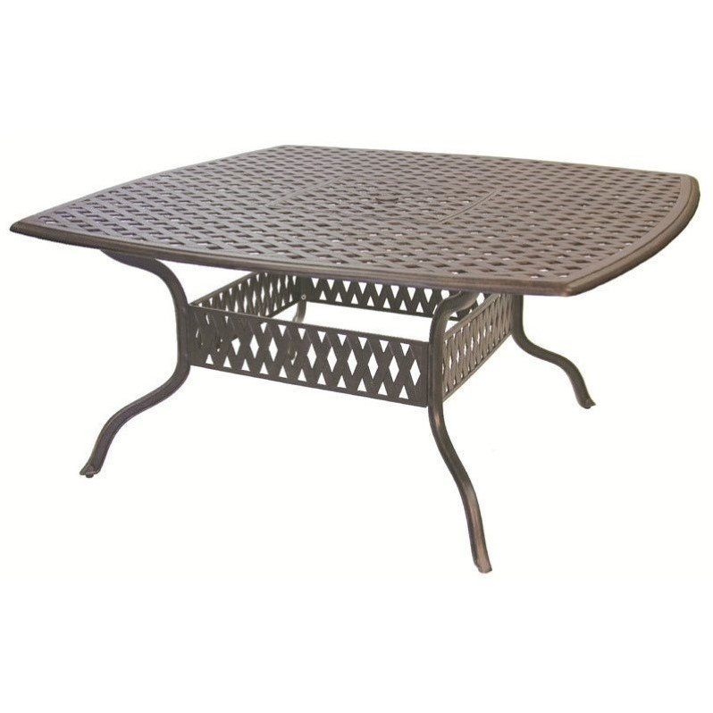 """Darlee Series 30 64"""" Square Patio Dining Table in Antique Bronze"""