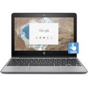 "Refurbished HP 11-v020wm 11.6"" Chromebook, Touchscreen, Chrome, Intel Celeron N3060 Processor, 4GB RAM, 16GB eMMC Drive"