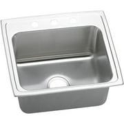 """Elkay LRQ2219 Gourmet 22"""" Single Basin Drop In Stainless Steel Kitchen Sink"""