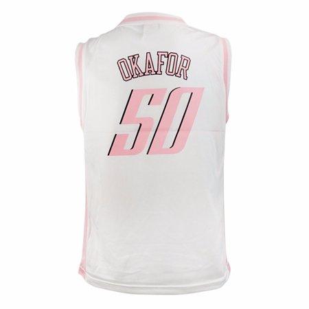 Emeka Okafor Charlotte Bobcats NBA Adidas White Official Fan Fashion Basketball Jersey For Girls