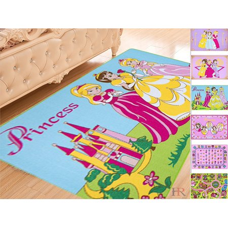 Handcraft Rugs Girls Playroom Rug Non Slip Gel Back Pink Princess