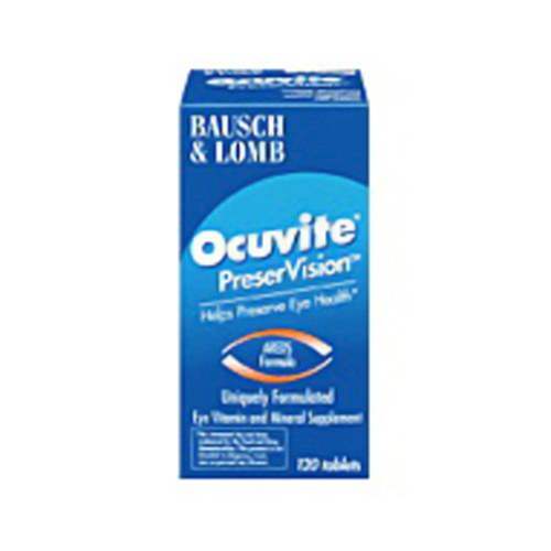 Ocuvite Preservision Eye Vitamin And Mineral Supplement Tablets - 120 Ea