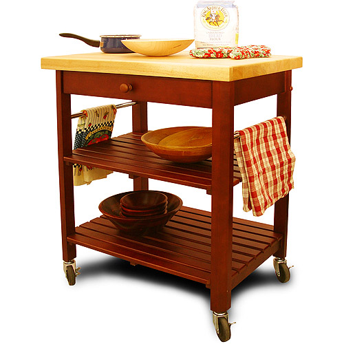 roll about cart/kitchen island, cherry - walmart