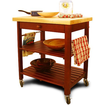 Roll About Cart Kitchen Island Cherry