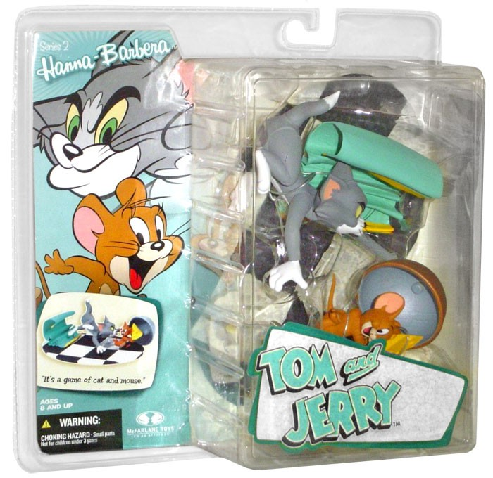 McFarlane Hanna-Barbera Series 2 Tom & Jerry Action Figure 2-Pack