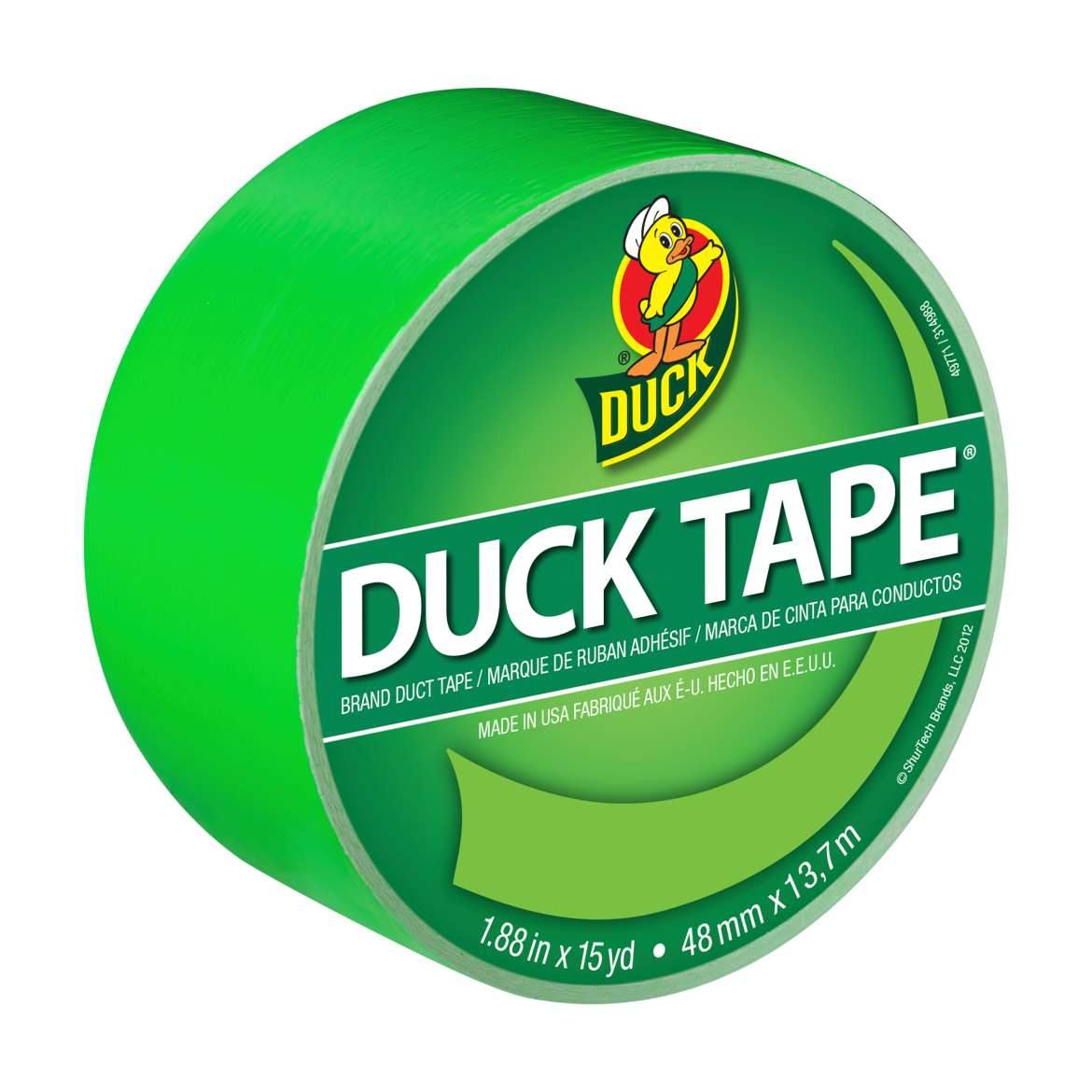 Duck Brand Color Duct Tape, 1.88 in. x 15 yds., Island Lime