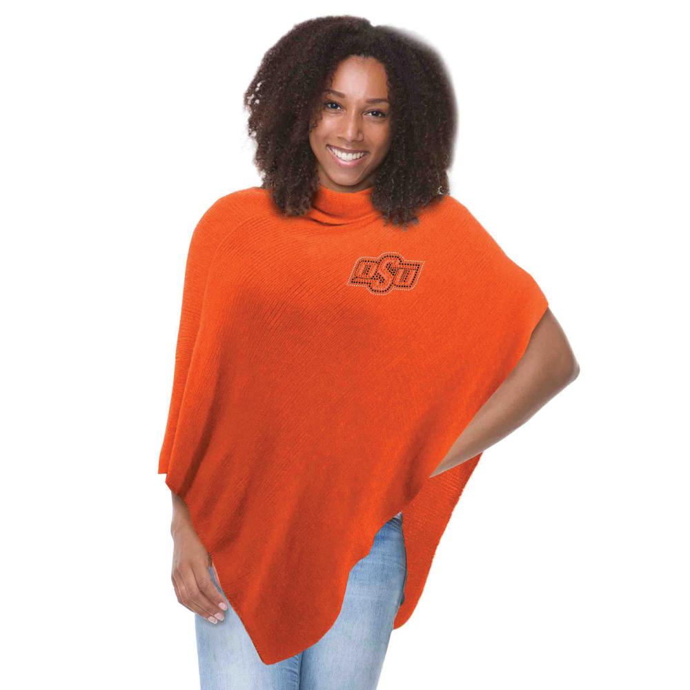Oklahoma State Crystal Knit Poncho by Little Earth Productions