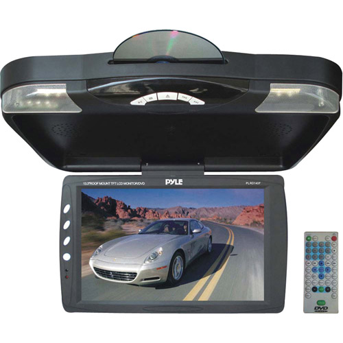 "Pyle PLRD143F 14.1"" Roof-Mount Monitor with Built-In DVD Player"