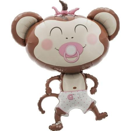 Baby Girl Monkey Jumbo Balloon, 41
