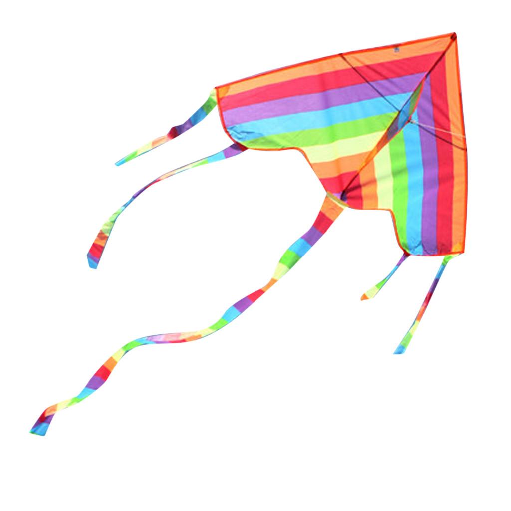 Rainbow Triangle Kite Outdoor Children Fun Sports Kids Children Toys Air Fly