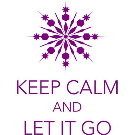 Keep Calm and Let it Go | Frozen Movie Quote | Vinyl Wall Decal | Snowflake Bedroom Sticker 22