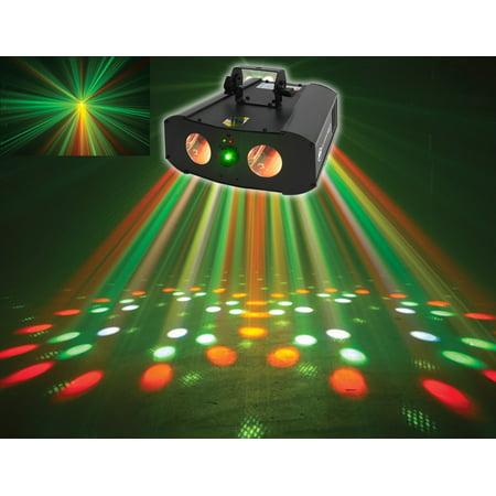 Galaxian Laser - American DJ Galaxian Gem IR Dual Moonflower+Green Laser Multi Effect Light ADJ