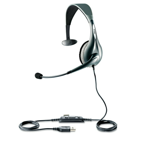 Jabra Uc Voice 150 Monaural Over The Head Corded Headset