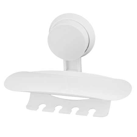 Uxcell Bathroom Plastic Suction Cup Wall Mounted Toothpaste Toothbrush Holder Rack ()