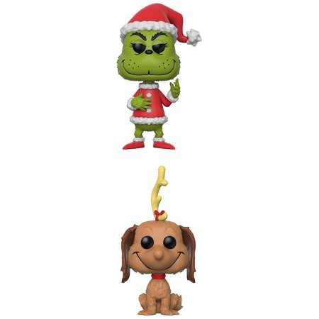 Funko Pop!Books: Pop Collectors Set-Santa Grinch, Max the Dog Action Figure - Santa Pop
