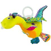 Lamaze Clip & Go Flip Flap Dragon Interactive Infant Toy, Baby Car Seat Toy, Plush Stroller Toy