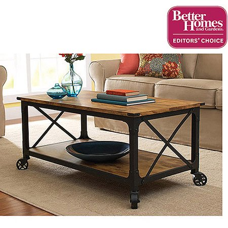 Better Homes and Gardens Rustic Country Coffee Table, Antiqued Black/Pine  Finish - Better Homes And Gardens Rustic Country Coffee Table, Antiqued
