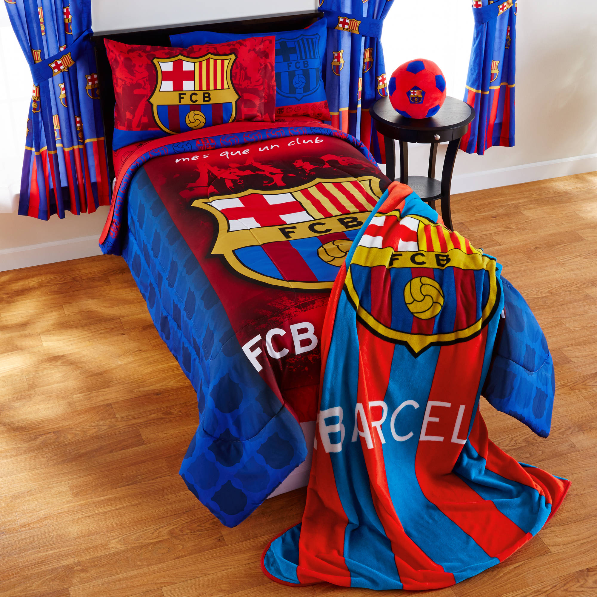 Barcelona FCB Soccer Bedding Sheet Set Walmart