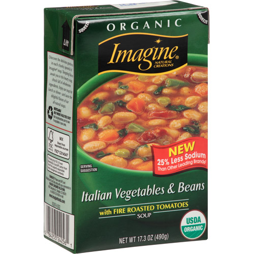 Imagine Italian Vegetables & Beans Soup, 17.3 oz, (Pack of 12)