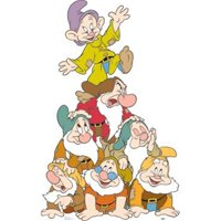 Advanced Graphics 677 Seven Dwarfs Group Life-Size Cardboard Stand-Up