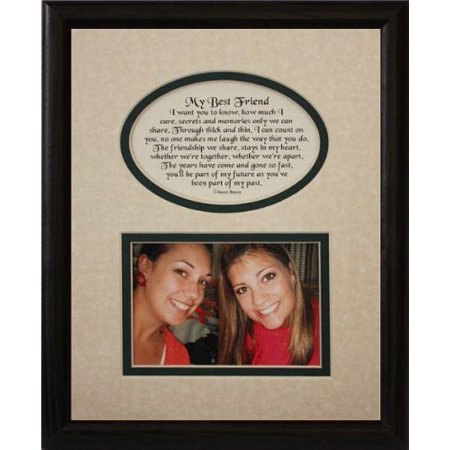 8X10 My Best Friend Picture & Poetry Photo Gift Frame ~ Cream/Hunter Green Mat With Black Frame ~ Heartfelt Keepsake Picture Frame For A Best Friend For Christmas, Birthday Or (Best Christmas Gift For A Duck Hunter)