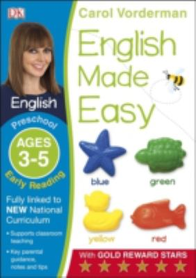 English Made Easy Preschool Early Reading Ages 3-5 (Carol Vorderman's English Made Easy)... by