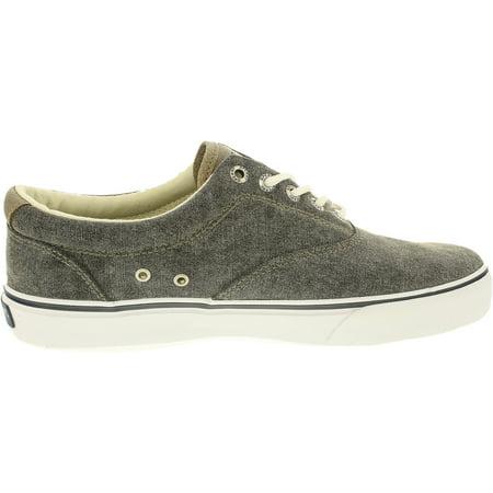 9a622a9408a Sperry Men s Striper Ll Cvo Canvas White Core Black Ankle-High Canvas Fashion  Sneaker ...