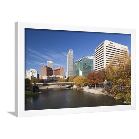 Gene Leahy Mall Skyline, Omaha, Nebraska, USA Framed Print Wall Art By Walter (Malls In Omaha Nebraska)