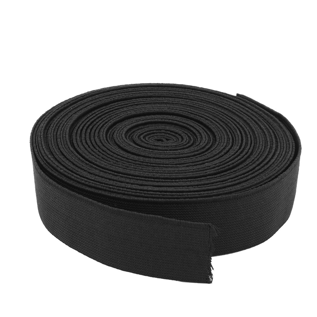 Tailoring Polyester Sewing Stretchy Braided Elastic Band Strap Black 10.94 Yards