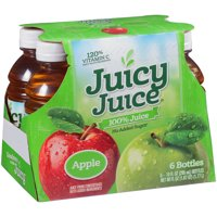 (4 Pack) Juicy Juice 100% Juice, Apple, 10 Fl Oz, 6 Count