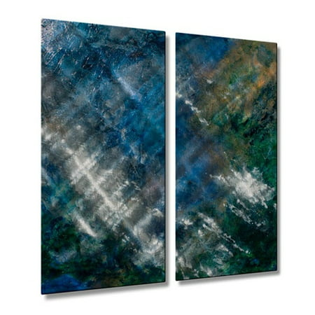 All My Walls 'Where the Earth Meets the Sky' by Carlynne Hershberger 2 Piece Graphic Art Plaque (Pardon Me Thou Bleeding Piece Of Earth)