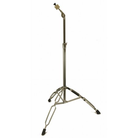 STRAIGHT CYMBAL STAND 5' Heavy Duty Chrome Double Braced Percussion Tripod (Heavy Duty Cymbal Stand)