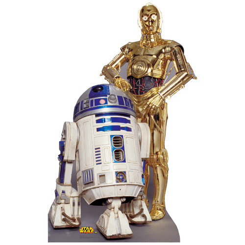 Advanced Graphics Star Wars R2-D2 & C-3P0 Life Size Cardboard Stand Up
