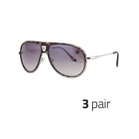 3 PAIR 80's Mens Retro Vintage Classic Fashion Aviator Sunglasses Black White 80's Retro Aviator Sunglasses
