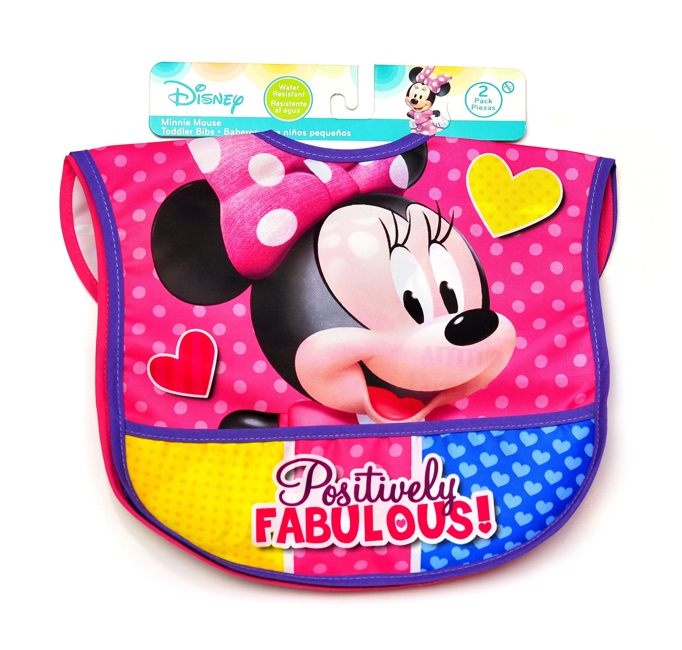 Disney 2 Pk. Minnie Mouse Nylon Bibs
