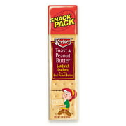 Keebler Sandwich Crackers, Toast & Peanut Butter, 8 Cracker Snack Pack, 12/Box
