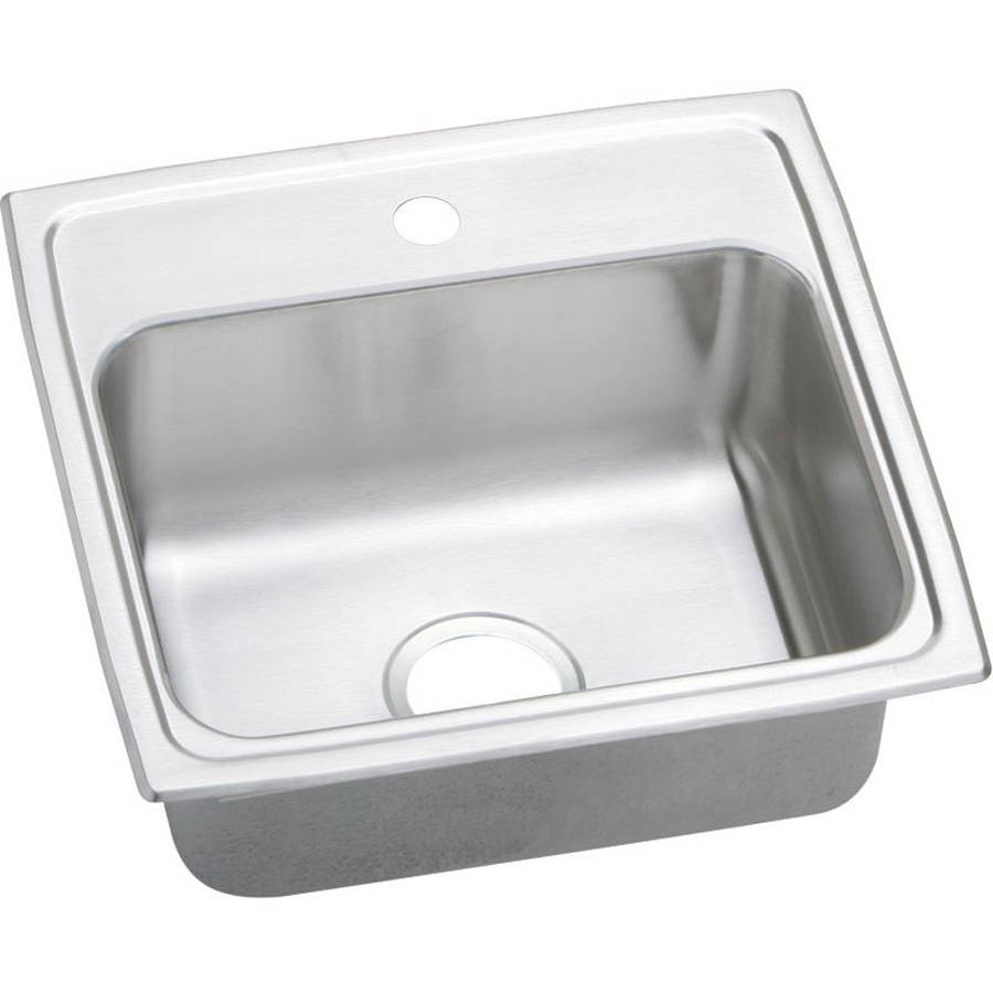 Elkay PSR19181 Gourmet Pacemaker Stainless Steel Single Bowl Top Mount Sink with Single Faucet Hole