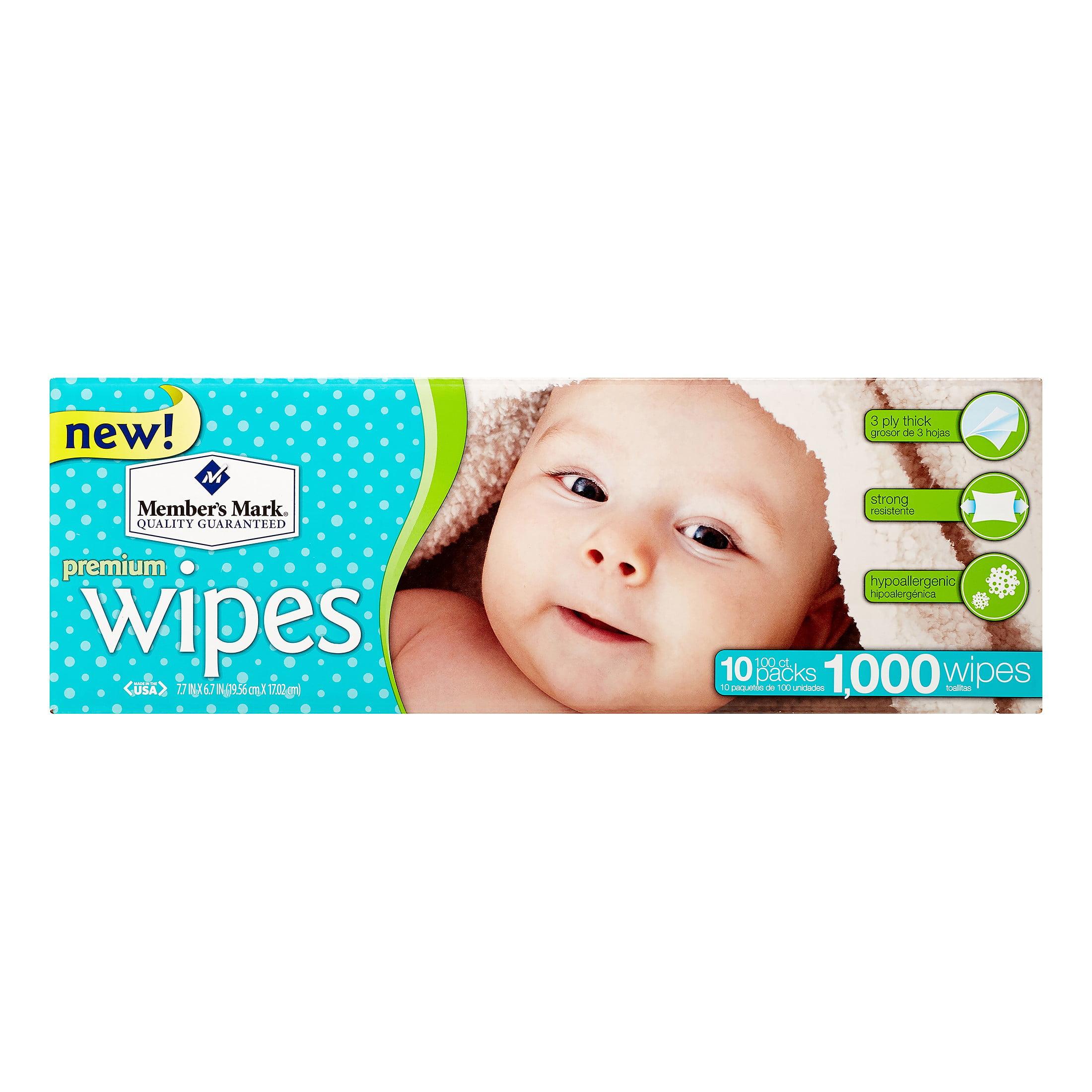 1152 count 12 packs of 96 each Member/'s Mark Premium Baby Wipes