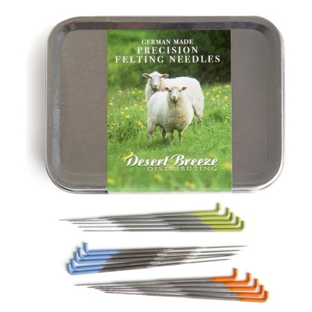 Precision Felting Needles, High Carbon Steel, Color Coded, Made by Groz-Beckert of Germany