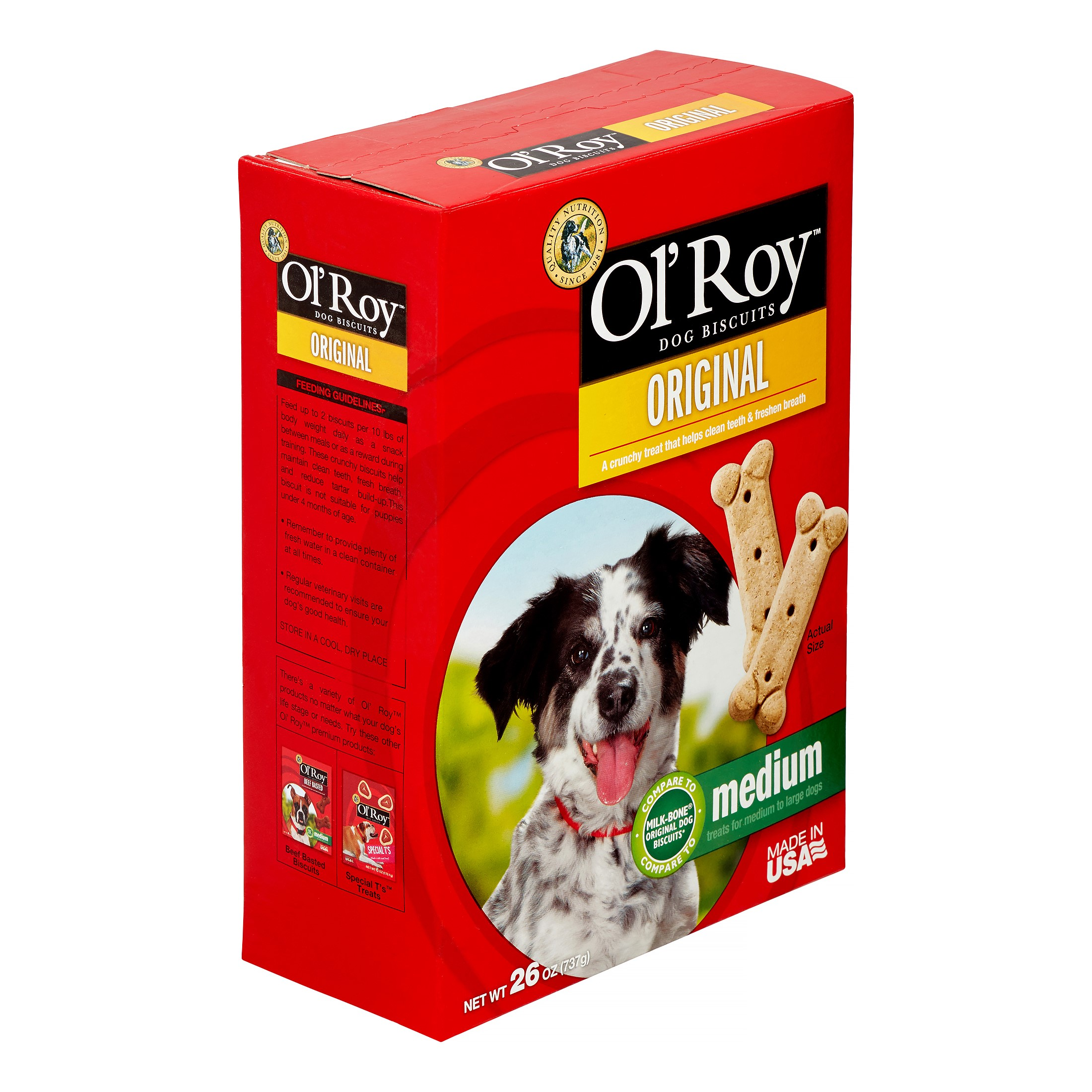 Ol'Roy Milk Biscuit Dog Treats, 26 Oz