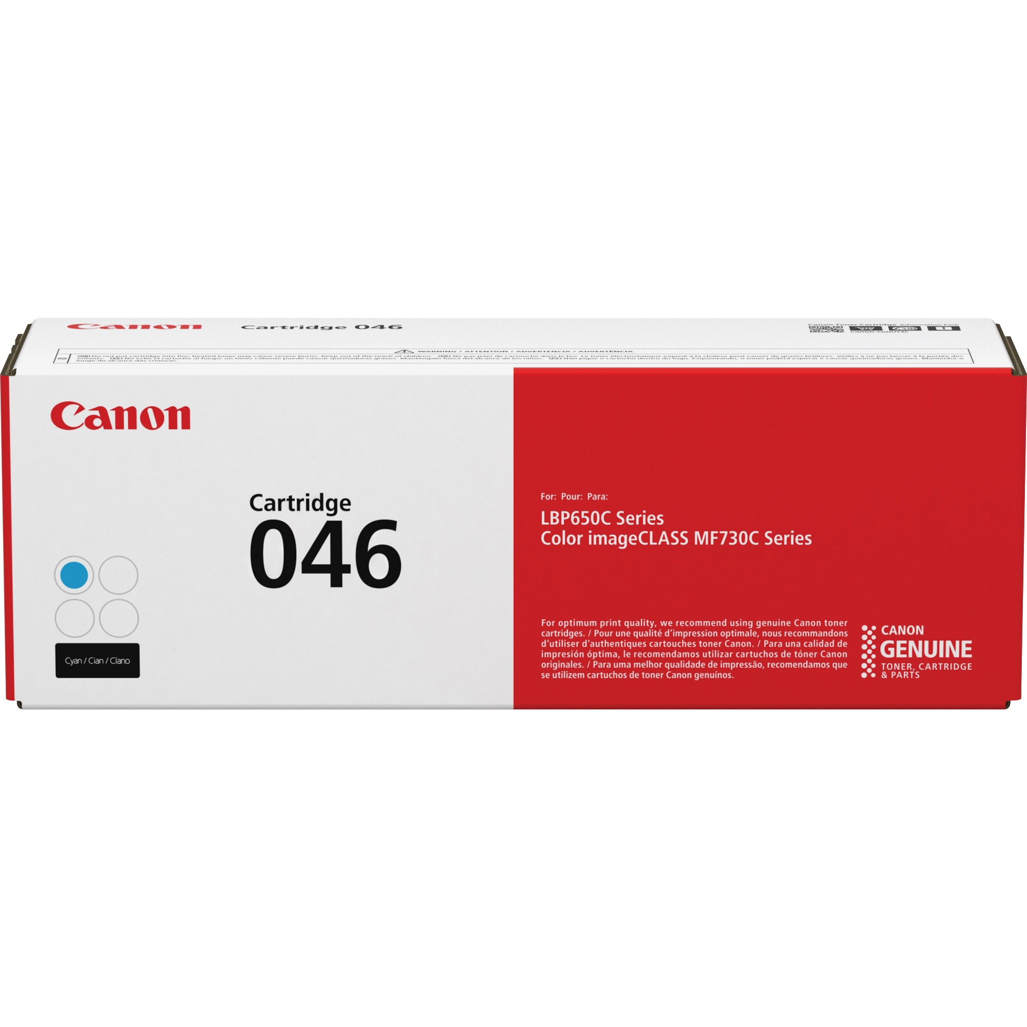Canon, CNMCRTDG046C, Cartridge 046 Standard Toner Cartridge, 1 Each